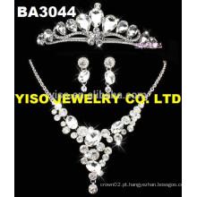Conjunto de jóias de casamento com diamantes