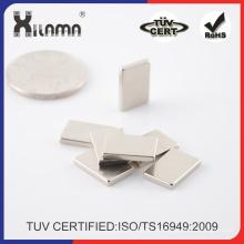 40X15X2mm bloque delgado de imán de NdFeB Permanente para el hogar decora