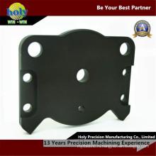 Чехол алюминий CNC мельницы через отверстие с черной Анодированной поверхностью