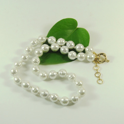 Faux Baroque White Pearl Jewelry