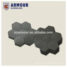 Plaque de blindage dur en carbure de silicium