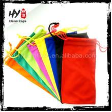 Bolsas de impresión de logo de producto nuevo, estuche de silicona para niños, estuche de gafas de sol de bambú