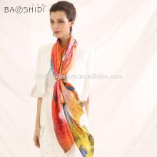 2015 Chine écharpe en soie écharpe à la mode imprimé numérique soie écharpe en dame et châle en gros