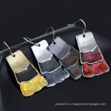 Мода 2015 Новый дизайн Handemade хлопья кристалл серьги для леди