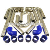 Universal Intercooler pipe kits including silicone hose and T-clmap