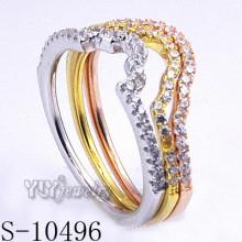 925 plata joyería de circonio con anillo de combinación de mujeres (s-10496)
