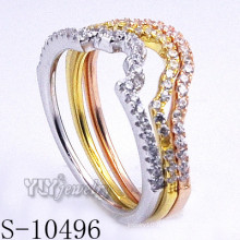 925 Silver Zirconia Jewelry with Women Combination Ring (S-10496)