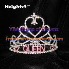 Heart QUEEN Pageant Rhinestone Crowns