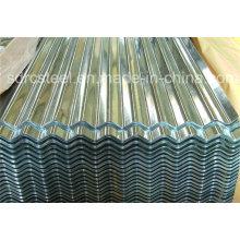 Folha de revestimento de aço ondulado de alumínio cor PPGL