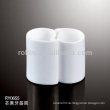 Weißer keramischer Mango-Zahnstocherhalter