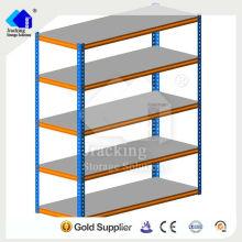 Pequeños almacenes Jracking Shelf System perchero remache estantería, Repuestos auto estante ajustable