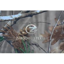 150d 2/2 tela de poli de tela cruzada con impresión de camuflaje del bosque (ZCBP265)