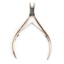 Clavo de acero inoxidable de piel muerta de corte ordinario dorado, herramienta exfoliante Tijeras de piel muerta