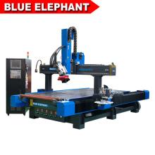 Fraisage de mousse de polystyrène d'éléphant bleu de promotion et machine de forage en bois Nouveau routeur de commande numérique par ordinateur de meubles avec la broche de poinçon de côté