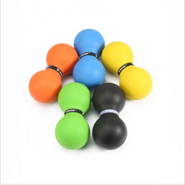 Double lacrosse rubber ball