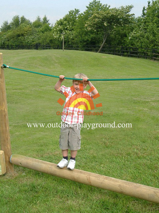 Wooden Roll Rope Balance Playground For Kids