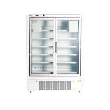 Congelador vertical de la exhibición de la puerta de cristal para el supermercado