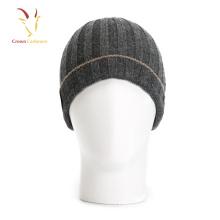 Chapéus e tampões feitos malha do Beanie de lãs da caxemira para homens