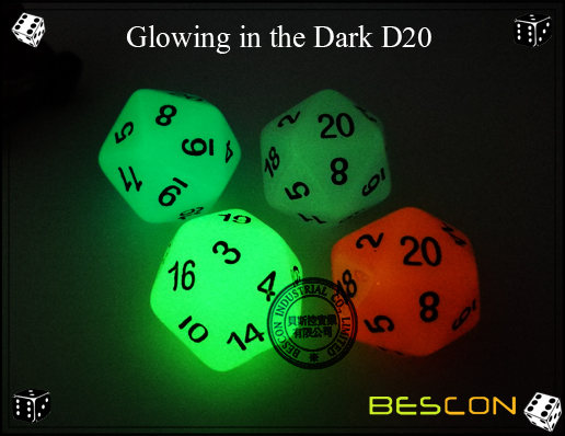 Glowing in the dark 20 sides dice-2