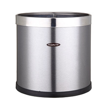 Open Top Three Sizes Available Stainless Steel Trash Bin