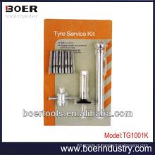 Kit de ferramentas de teste de pneu Calibre de pneu de lápis & medidor de profundidade de passo de pneu