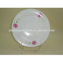 Factory directly cheap white porcelain dinner plate 7 inch