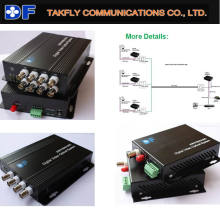 High Performance 4 Channel Single Mode Video to IP Converter for CCTV Camera