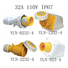 Enchufe eléctrico y zócalo 32A 110V