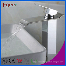 Fyeer High Body Bathroom Waterfall Basin Faucet (Q3002H)