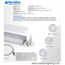 21X19mm 1/2 / 3m Aluminiumprofil mit PC-Abdeckung für Streifen