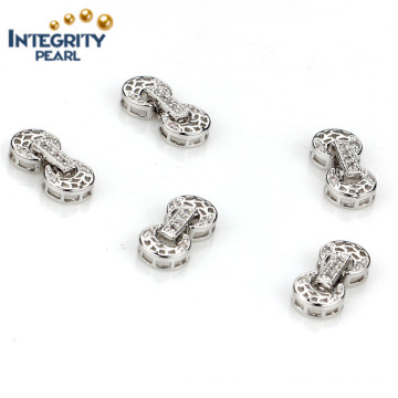 Jewelry Accessory Clasp Silver Plated Necklace Metal Clasp