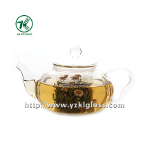 Clear Single Wall Glass Teapot by SGS (750ML)