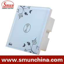 1 Key Touch Switch, Remote Control Wall Switch, White ABS Fireproof 1500W