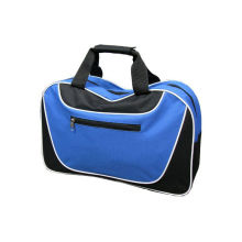 Blue 600d Polyester Bag / Large Capacity Travel Tote Bags With Pvc Handle