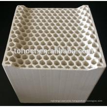 Ceramic honeycomb with hexagon hole