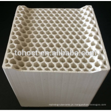 Favo de cerâmica com furo hexagonal