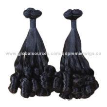 Grade 7A+ 100% Peruvian Virgin Hair Machine-made Weft, Classic Curl for Africa Market, stock Item