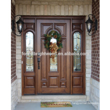 Luxury Solid Hardwood Entry Door Exterior Carved Wood Door