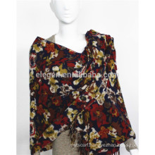 Acrylic Flower Printed scarf