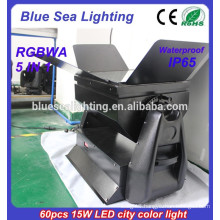 Led stage lighting, rgbwa 5 in 1 IP65 waterproof outdoor lighting fixture