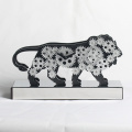 Lion-Form Gear Desk Clock