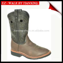 COWBOY BOOTS WITH EMBROIDERY AND RUBBER OUTSOLE WELTED