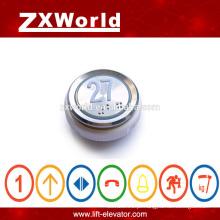 O botão do elevador mais barato, botão de chamada para o elevador, interruptor de pressão, botão do elevador