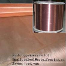 Красная ткань медного провода