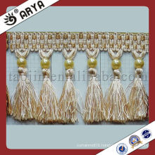 Good price home decorative fringes tassel,curtain tassel,tassel fringe