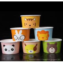 tasse de papier jetable de boisson de crème glacée
