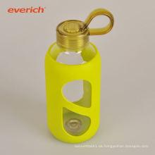 Bunte, schweißsichere, doppelwandige Glasflasche