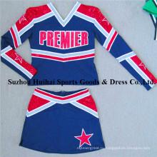 2017 с длинным рукавом Spandex Cheerleading Uniforms