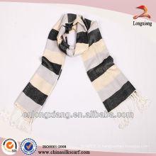 Vente en gros Plaid White 100% nouveaux foulards en viscose