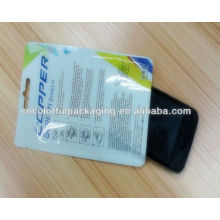 custom printed cellophane bag/cellophane packaging/earphone bag